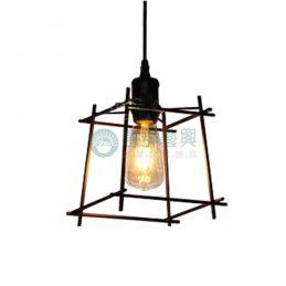 【現貨】工業風造型燈具-竹框款