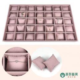 【客製】藕粉絨布抱枕飾品收納盒