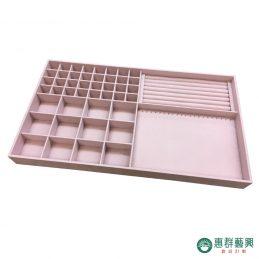 【客製】藕粉絨布綜合飾品收納盒
