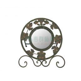 仿青銅鍛花圓鏡WS