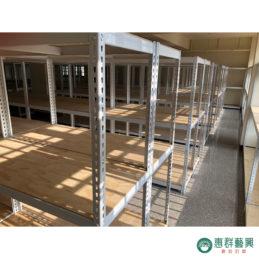 免螺絲角鋼架實作範例E-倉儲貨架