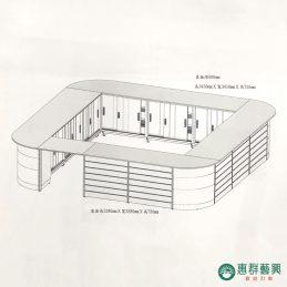 槽板式收銀櫃台