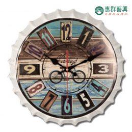 腳踏車瓶蓋造型時鐘