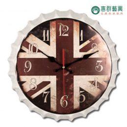 英式瓶蓋造型時鐘