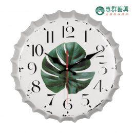 葉子瓶蓋造型時鐘-P0-