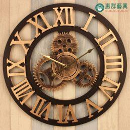 齒輪羅馬數字掛鐘