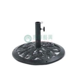 傘座-鑄鐵黑色玫瑰傘座