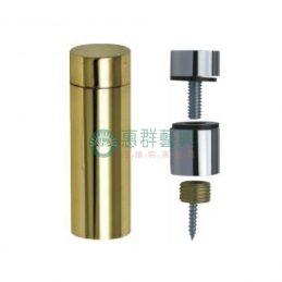 金銀色平頭銅鏡珠-直徑2cm