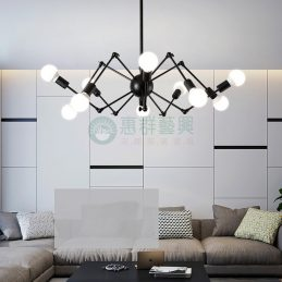 工業風創意蜘蛛燈-1