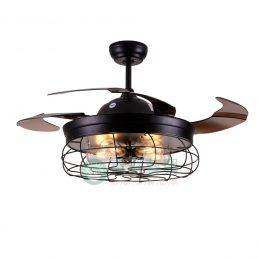 工業風隱形風扇吊燈-0