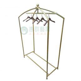 金色拱形吊衣桿